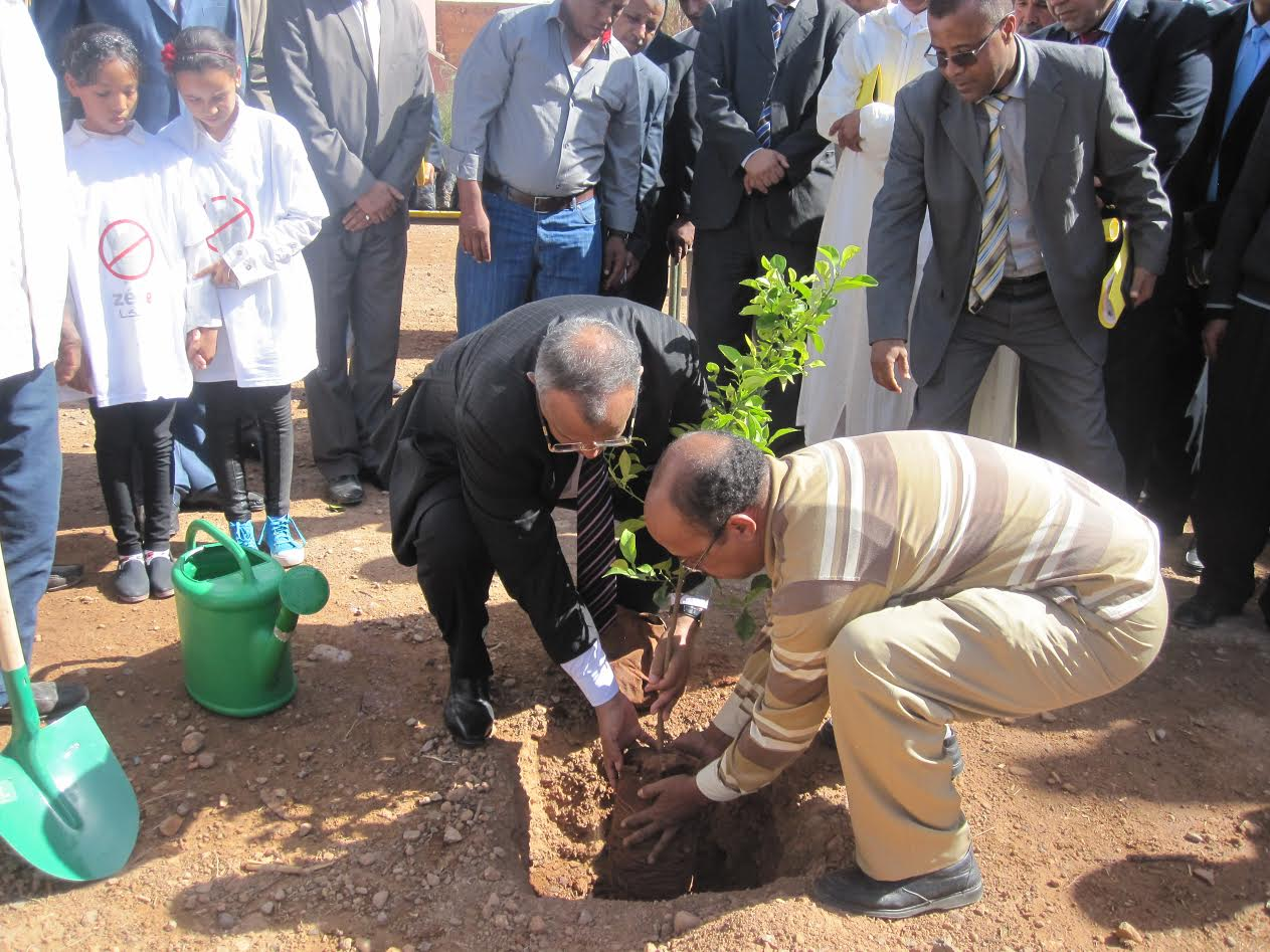 افتتاح الأيام التحسيسية لمواكبة مؤتمر المناخ COP22 بالمديرية الإقليمية لزاكورة-2