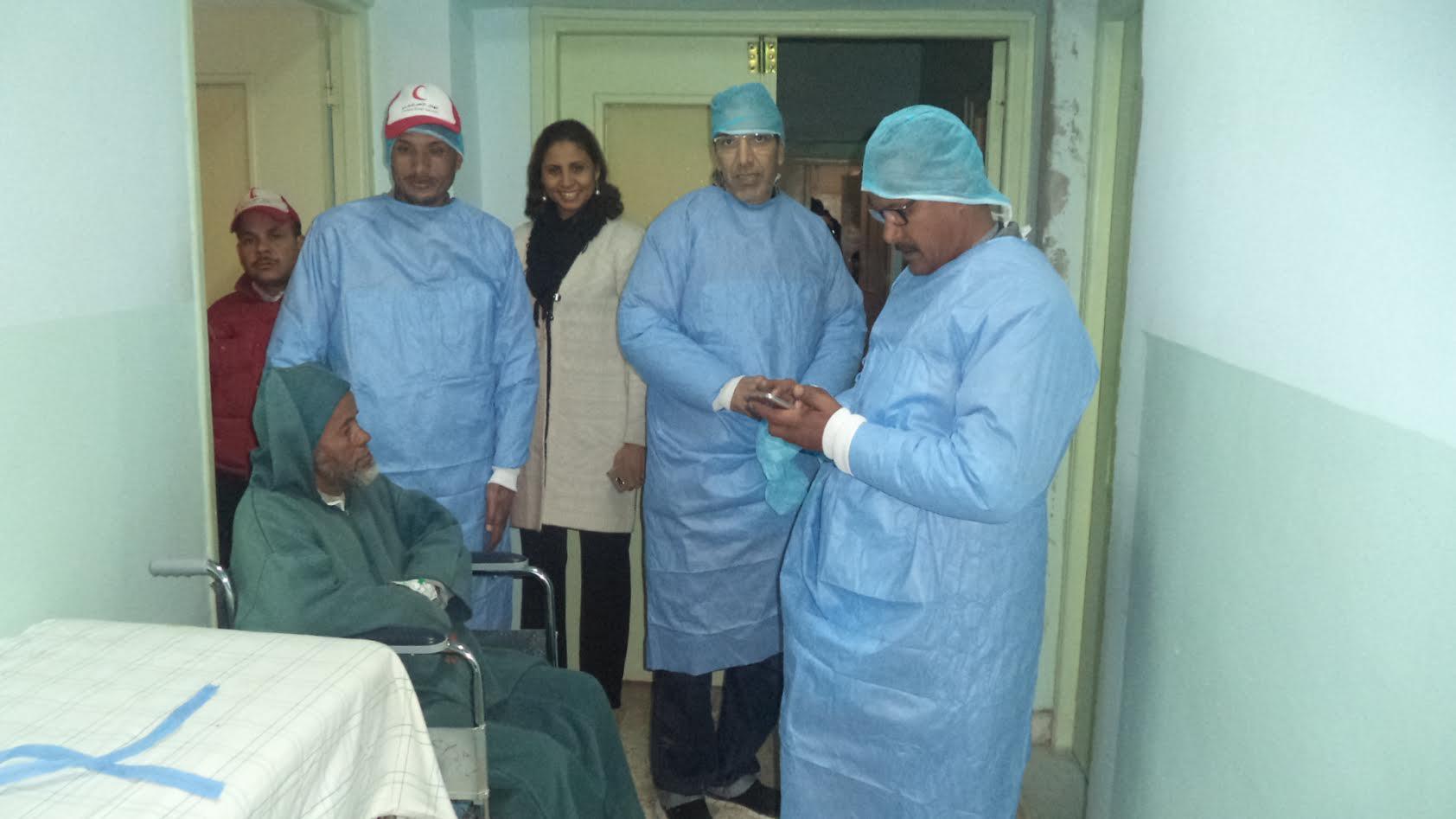 حصيلة وصور القالة الطبية لفحصص العيون وجراحة الجلالة المنظمة باقليم زاكورة