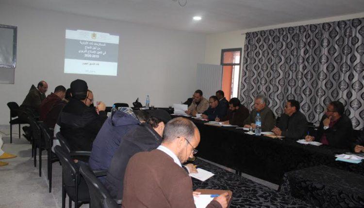 مديرية ورزازات : لقاءات متواصلة حول تنزيل المشاريع المندمجة للرؤية الاستراتيجية 2015-2030