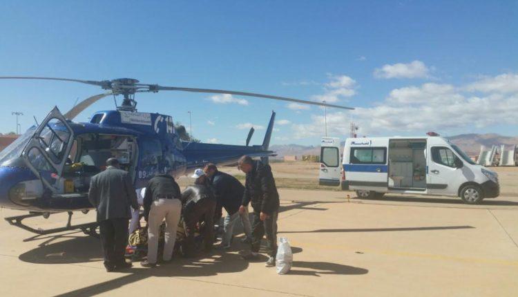 مروحية وزارة الصحة تتدخل لإنقاذ امرأة مريضة بالقلب بإقليم الراشيدية