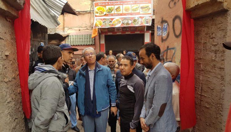 """والي جهة مراكش آسفي يتفقد ورش الأشغال لمشروع """" دربنا """""""