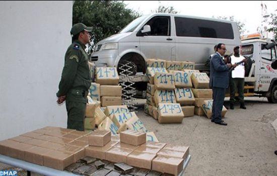 حجز حوالي طنين من مخدر الشيرا ضواحي مدينة تطوان